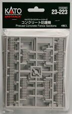 KATO N Scale 1/150 23-223 UNITRACK Precast Concrete Fence Sections Airmail Only
