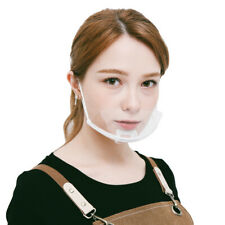 (20Pcs) Transparent Plastic anti-fog Mouth Mask For Restaurant(color:Clear)