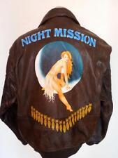 Vtg AVIREX G-1 'Night Mission' US NAVY Flight Leather Jacket Size XL