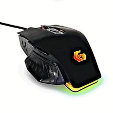 GAMING MOUSE programmierbar 6 Taste USB LED DPI-Taste (1200-3200) Schwarz RGB