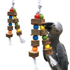New Cage Bird Swing Toy Chewing Wooden Accessory String Parrot Pet Likes Toys