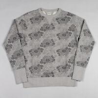 Edwin College Crew Sweat - Grey Marl Allover Print