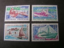 FRENCH POLYNESIA, SCOTT # 217+219/220(2)+222(4), 1966 SHIPS  ISSUE MVLH