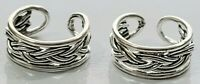 Ear Cuffs Braided Design 925 Sterling Silver You get 2 Pieces 1 Pair # 31