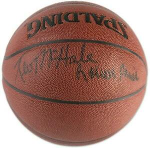 Autographed NBA Boston Celtics Kevin McHale & Robert Parish Signed Basketball