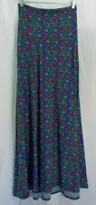 Women's LuLaRoe Blue Multi Color Floral Maxi Skirt In MEDIUM NWT