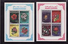 UAE Emirates 2 mnh stamp ss mi#bl7-8 flowers 1990