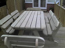 Heavy Duty Garden Table and Bench Set Extra Large **NO Self Assembly required**