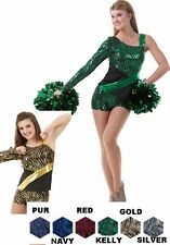 Wild Cat Dance Costume Shorts and Top Baton Cheer Clearance 6X7,CL,AS,AM,AL,AXL