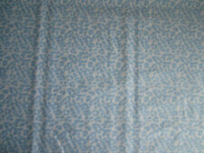 """Baby Blue and White Cheetah Print Cotton Quilting Fabric 1yrd,11"""" x 44""""w New"""