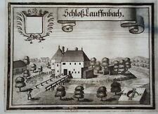 Schloß Lauffenbach Schärding  Wening  Kupferstich 1721