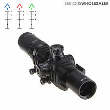 1.5-4x30 mm Tactical Rifle Scope Mil-dot Reticle Illuminated w/ 30mm Mount
