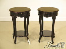 L25004: Pair JONATHAN CHARLES Country French Round Paint Dec. Occasional Tables