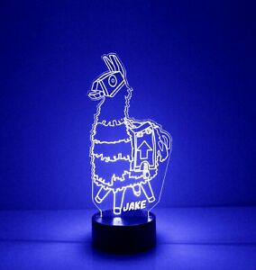 Fortnite Llama LED Night Light, with Remote Control, Engraved Gamers Light