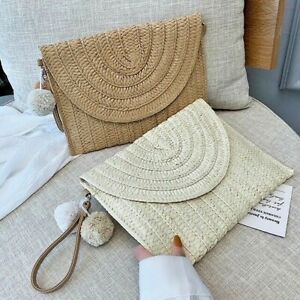 Fashion Crossbody Summer Straw Envelope Bag