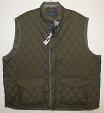 Polo Ralph Lauren Big and Tall Mens Olive Green Quilted Jacket Vest NWT 3XB