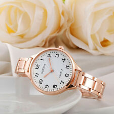 Geneva Elegant Women Quartz Watch Stainless Steel Analog Quartz Wrist Watch NEW