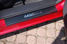 Edelstahl Carbon Style Einstiegsleisten für Mazda 3 BM Edelstahl Rostfrei