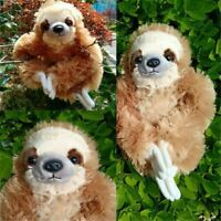 30cm Cuddly Plush Three Toed Sloth Critters Lying Soft Toy Kids Children Gift