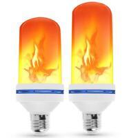 E27 72 LED flamme effet feu ampoule scintillement émulation Noël Bar décor lampe