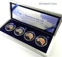 2003 PIONEERS OF AVIATION 4 X 1oz SILVER Proof Coin Set