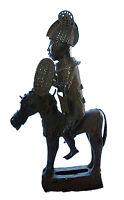 Statue royale Oba  sur son cheval Beni Edo  bronze africain cavalier 30 Kg  N° 7