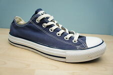 Converse Mens Size 7 UK All Star Classic Chuck Taylor Blue Low Boots Trainers