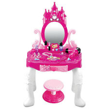 Beauty Fashion Girl Glamour Mirror Makeup Dressing Table Stool & Accessories NEW