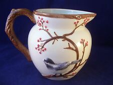 Harry & David Blue Bird & Cherry Tree Pitcher High Relief Figural Handle 2012