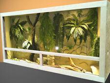 Terrario in legno OSB con  ventilazione  laterali  120x50x50 cm