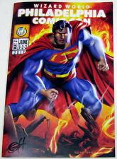 Greg Horn SIGNED Superman Wizard World Philly Philadelphia Comic Con Program