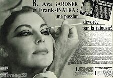 Coupure de Presse Clipping 1984 (5 pages) Ava Gardner Frank Sinatra
