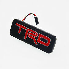 TRD Emblem LED Red Car Front Grill Badge for Toyota Camry Corolla Yaris