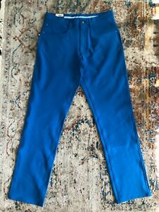 NWT FootJoy Golf Athletic Fit cobalt blue Performance Pants (size: 30x32)