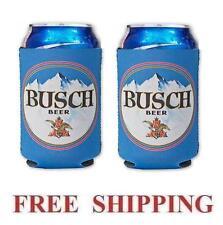 Busch Beer 2 12oz Can Coolers Coozie Coolie Koozie Huggie Bud New