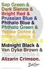 Bob Ross Color List Art Print Laminated Dry Erase Sign Poster 24x36