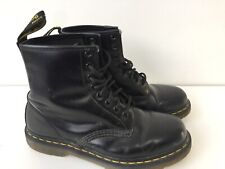 Dr Martens (Doc Martens) Ladies UK7 EU40 Smooth Black 8 Hole Boots 11822