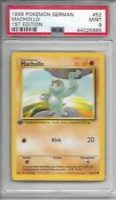 """MACHOLLO """"MACHOP"""" DEUTSCH GERMAN 1st Edition BASE SET PSA 9 MINT Pokemon #52"""