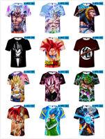 Men Women Goku 3D T-shirt Dragon Ball Z Anime Print Cartoon Tee Shirt Tops NEW