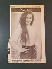 Tricia Paxia-signed newspaper photo - COA