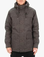 Globe Men's Hooded Jacket Goodstock Parka Charcoal Size L NWT Snow Ski Rain