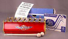 Vtg Tudor Xylophone-Tru Tone-X 100-8 Note-2 Mallets-Paperwork-Box