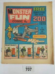Number 25 MONSTER FUN Vintage Comic - 29th November 1975 #707