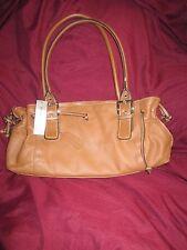 "Worthington ""Angel"" Genuine Leather Tan Medium Saddle Bag/Purse/Clutch with Tags"