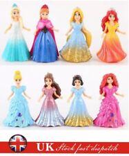 8pcs Disney Princess Set Girls Changed Dress Dolls Action Figures Toy Kids Gift