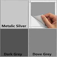 "6"" Tile Stickers Transfers Kitchen Bathroom Grey And Silver Self Adhesive TSA1"