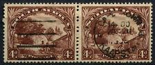 South Africa 1936 SG#46c, 4d Native Kraal Used Horiz Pair #D55825