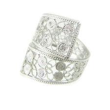 Anello fascia a nastro stile filigrana sarda in argento MISURA REGOLABILE