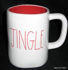 """RAE DUNN ARTISAN COLLECTION  """"JINGLE"""" MUG RED INTERIOR"""