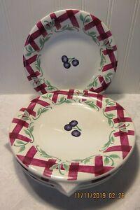 """Princess House Orchard Medley 8"""" Salad Plates / 4  (G)"""